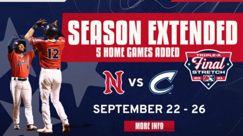 Five Home Games and Five Road Games Added to the Nashville Sounds 2021 Season. (Nashville Sounds)