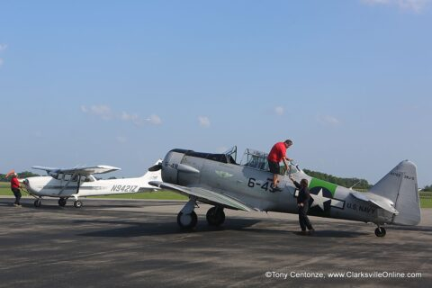 Navy SNJ Advanced Trainer, part of CAF Gulf Coast Wing's collection of vintage military aircraft