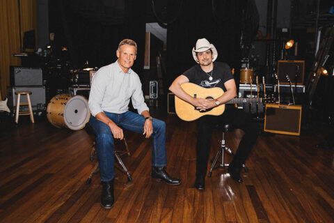 Tennessee Governor Bill Lee and country singer Brad Paisley. (Katie Kauss)