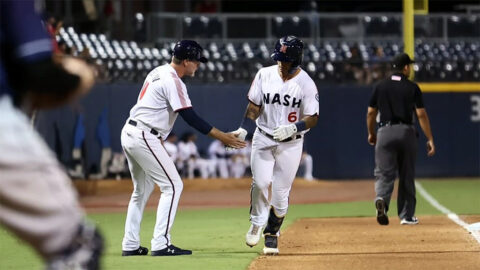 Two Big Innings Lead Nashville Sounds to Win in Game Two of Doubleheader against Toledo Mud Hens. (Nashville Sounds)
