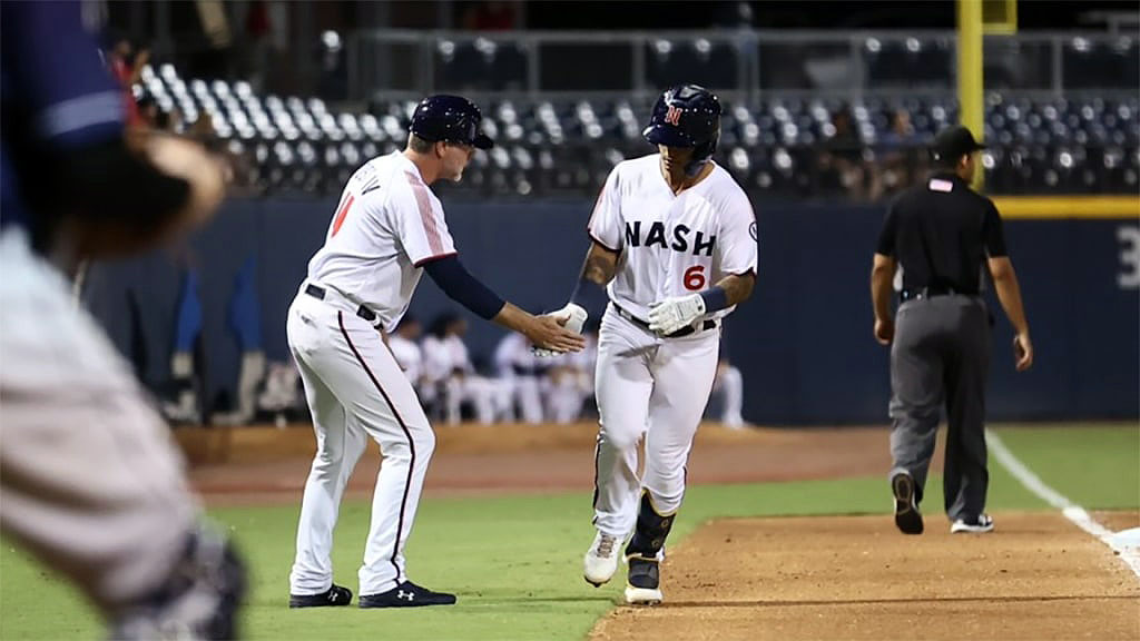 Two Big Innings Lead Nashville Sounds to Win in Game Two of Doubleheader at Toledo Mud Hens. (Nashville Sounds)