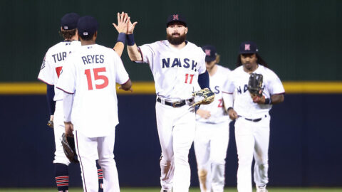 Nashville Sounds Score Four Runs in the Ninth Inning to Break Tie with Memphis Redbirds Sunday afternoon. (Nashville Sounds)