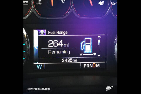 New research finds drivers should not rely too heavily on in-dash fuel economy displays. (AAA)