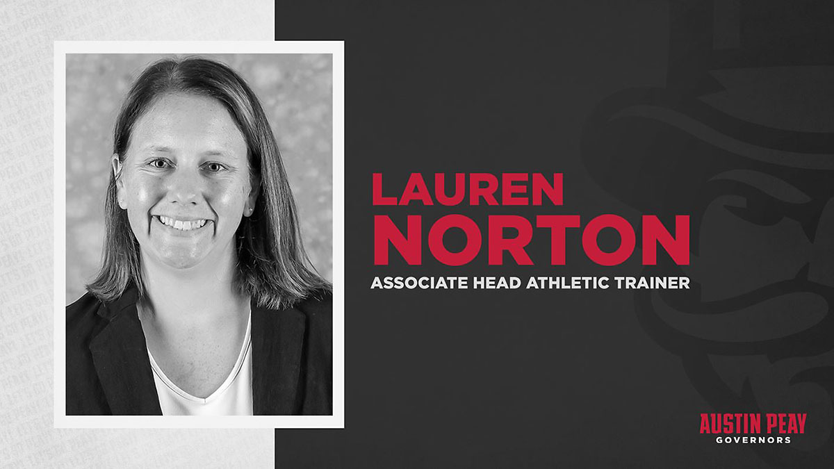 Lauren Norton joins Austin Peay State University as associate head athletic trainer. (APSU Sports Information)