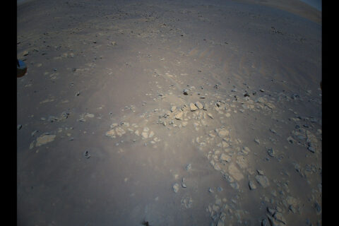 """The Return to Earth camera on NASA's Ingenuity Mars Helicopter snapped this picture of geologic feature the Mars Perseverance rover team calls """"Raised Ridges"""" during its 10th flight at Mars, on July 24th, 2021. (NASA/JPL-Caltech)"""
