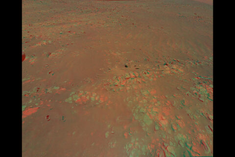 This 3D view of geologic feature the Mars Perseverance rover team calls Raised Ridges was generated from data collected by Ingenuity during its 10th flight at Mars, on July 24th, 2021. (NASA/JPL-Caltech)