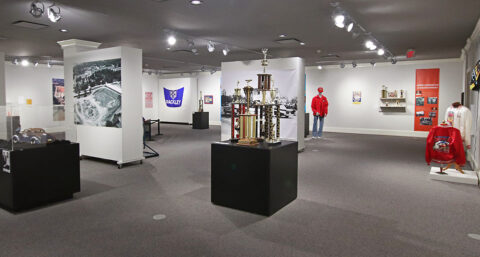"""""""Start Your Engines! A Celebration of Racing in Montgomery County"""" exhibit at the Customs House Museum and Cultural Center."""