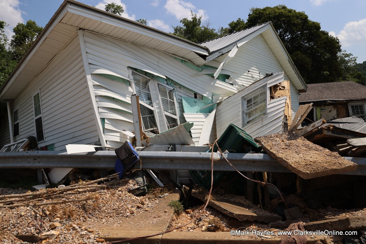 Flood Damage in Waverly Tennessee.