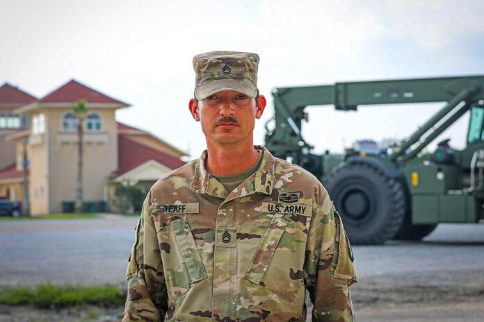 Sgt. 1st Class Brandon Taeff. (Spc. Jacob Wachob, 40th Public Affairs Detachment)