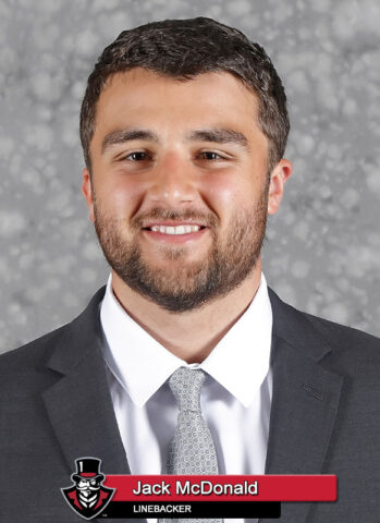 2021-22 APSU Football - Jack McDonald. (Robert Smith, APSU Sports Information)