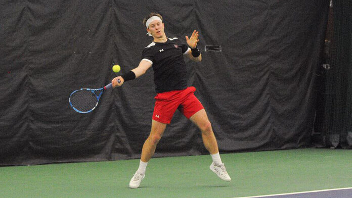 Austin Peay State Unviersity Men's Tennis players Oliver Andersson, Anton Damberg and Frederic Schlossmann advance at ITA Ohio Valley Regionals. (APSU Sports Information)