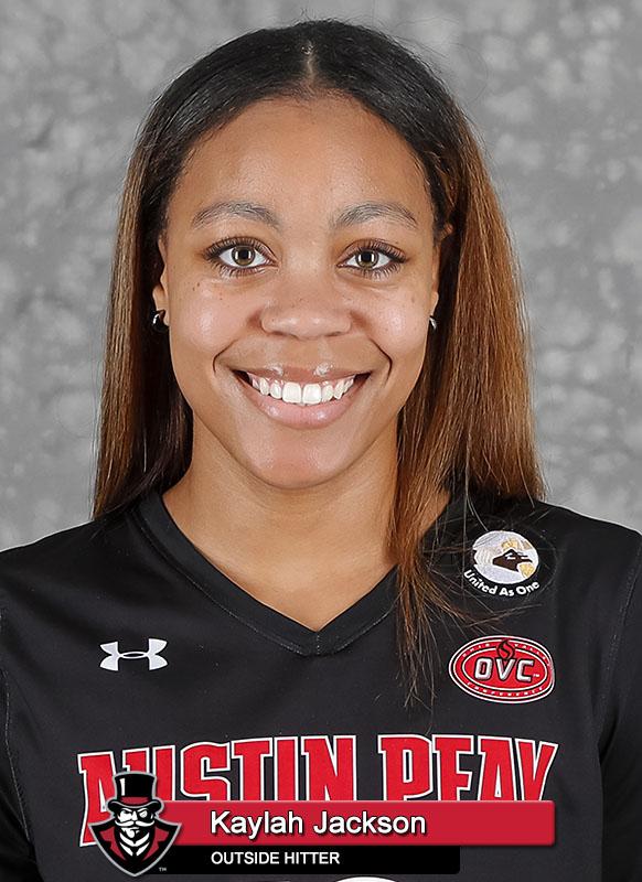 2021-22 APSU Volleyball - Kaylah Jackson. (Robert Smith, APSU Sports Information)