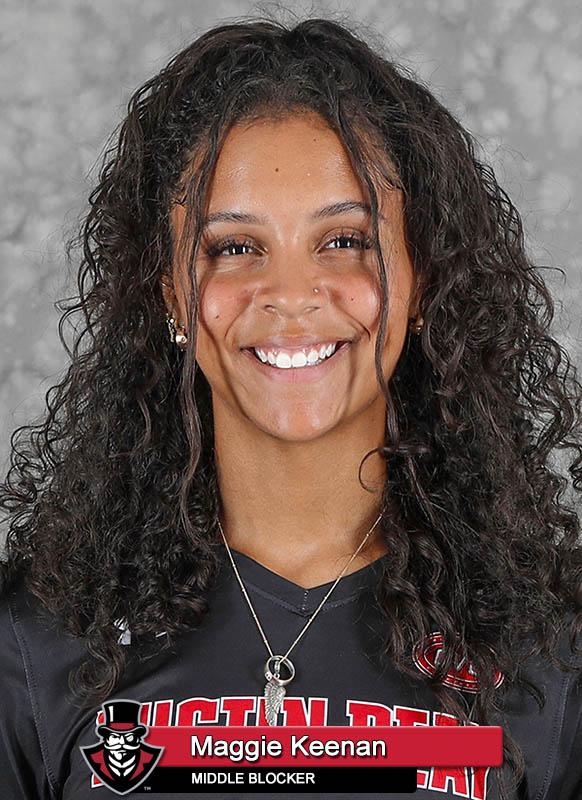 2021-22 APSU Volleyball - Maggie Keenan. (Robert Smith, APSU Sports Information)