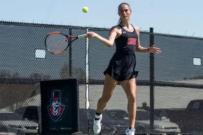 Austin Peay State University Women's Tennis kicks off 2021-22 seasonn with APSU Fall Tournament. (Eric Elliot, APSU Sports Information)