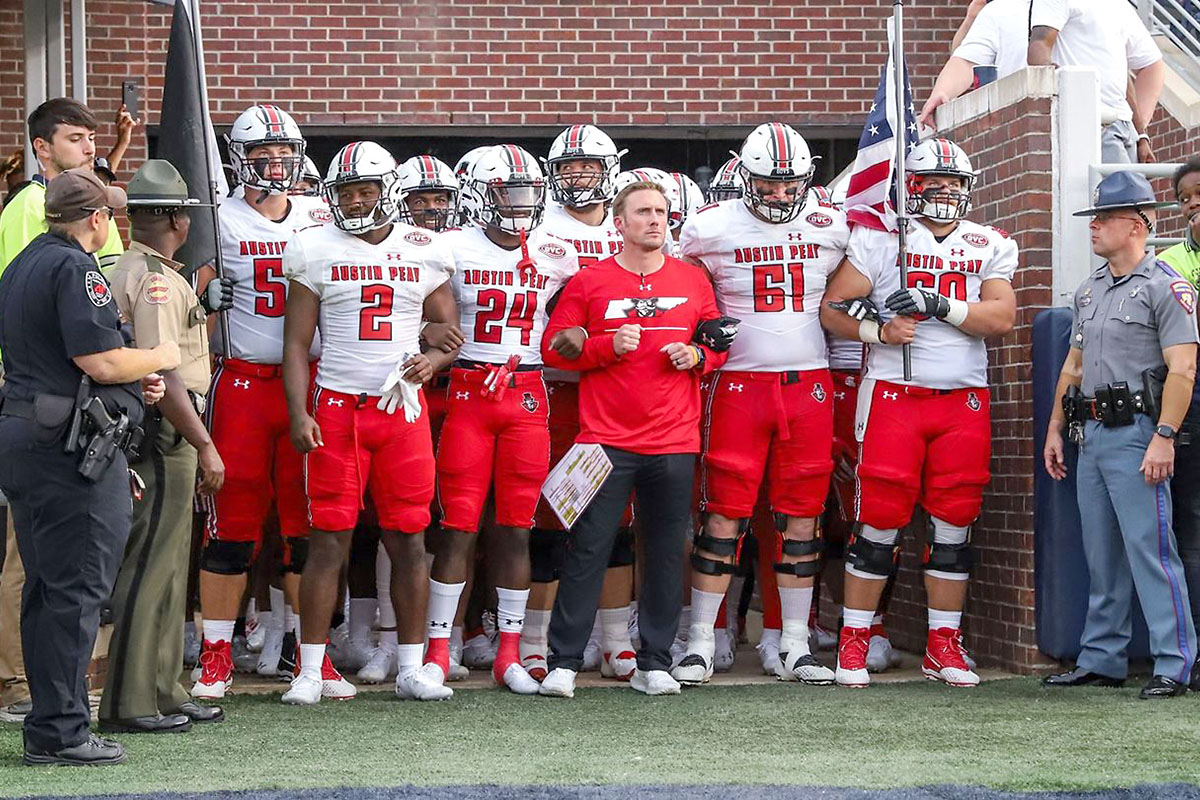 Austin Peay State University Football welcomes Morehead State to Fortera Stadium for home opener this Saturday. (Eric Elliot, APSU Sports Information)