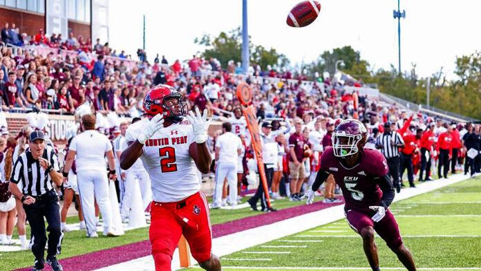 Austin Peay State University Football loses to Eastern Kentucky 35-27 at Roy Kidd Stadium, Saturday. (APSU Sports Information)