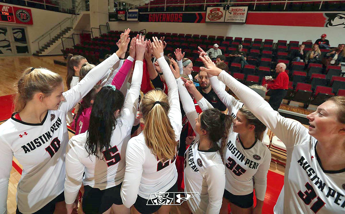 Austin Peay State University Women's Volleyball hosts Morehead State to open OVC play this weekend. (Robert Smith, APSU Sports Information)