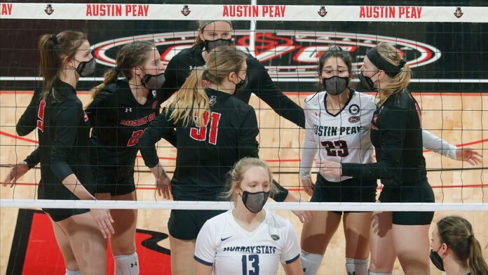 Austin Peay State University Women's Volleyball takes down Harvard and Marist in straight sets Saturday to claim Harvard Invitational Title. (Robert Smith, APSU Sports Information)