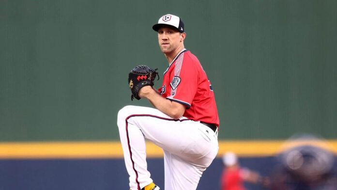 Nashville Sounds starting pitcher Josh Lindblom Lowers ERA to League-Best 3.10. (Nashville Sounds)