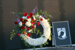 2021 Welcome Home Veterans Remembrance Ceremony and Wreath Laying at the American Traveling Tribute Wall.