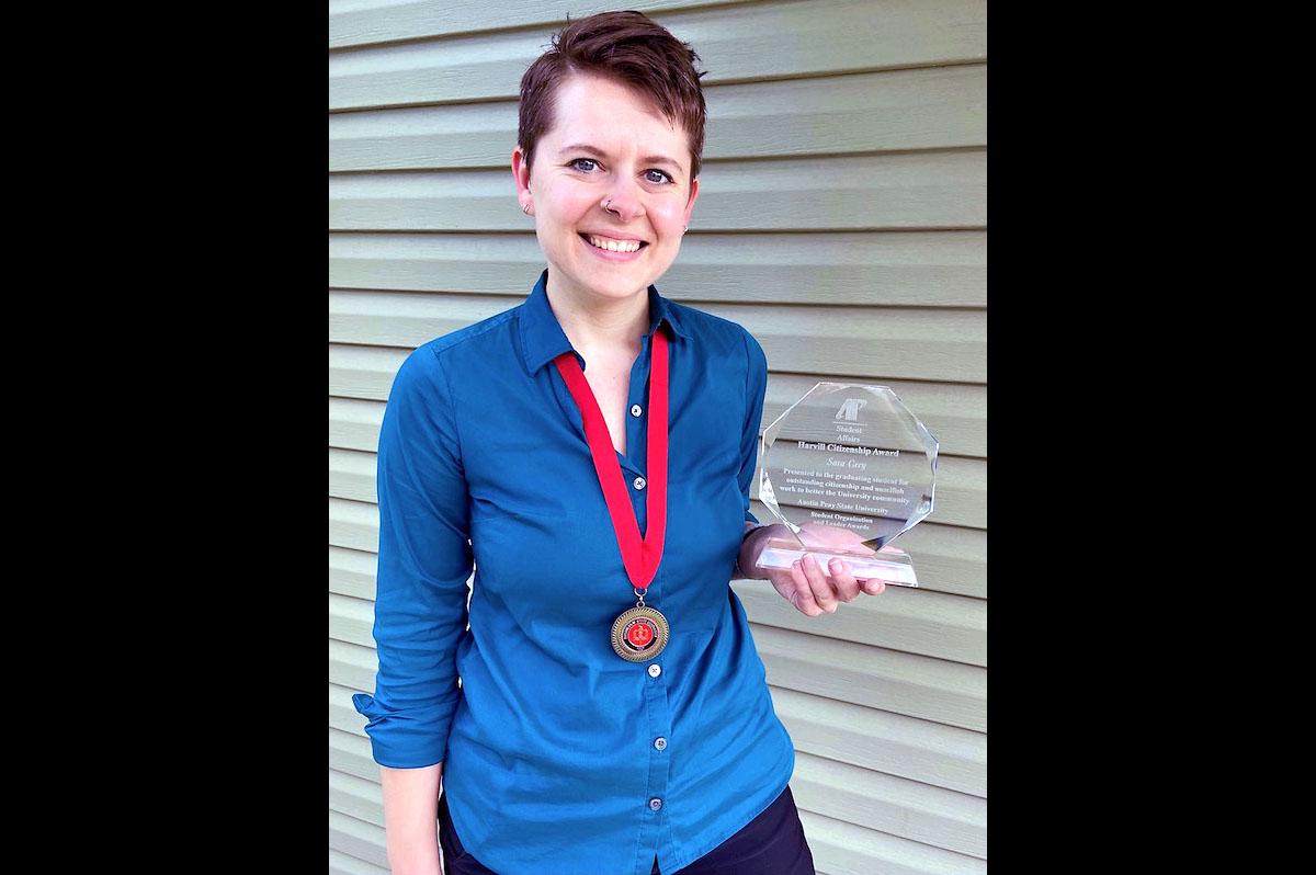 Austin Peay State University Harvill-Civitan Citizenship Award Winnder Sara Grey. (APSU)