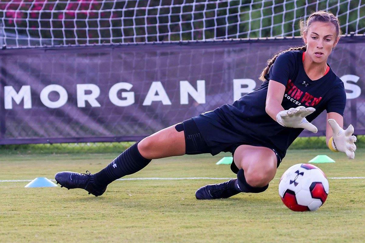 Austin Peay State University Soccer senior goalkeeper Peyton Powell shutdown North Alabama Sunday afternoon in Govs 1-0 victory. (APSU Sports Information)