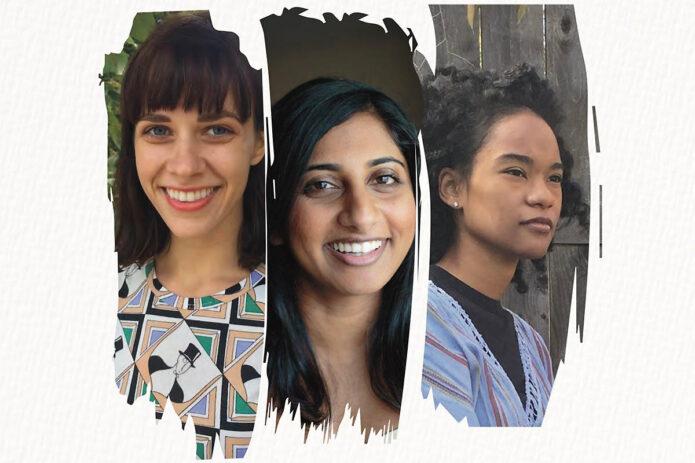 Poets Paige Lewis, Komal Mathew and Emily Spencer. (APSU)