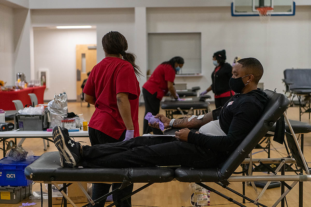 Blood Drive. (Jared Beasley, American Red Cross)