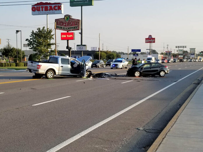 Clarksville Police working a Fatality Crash on Wilma Rudolph Boulevard and Athletic Boulevard that occurred Friday morning.