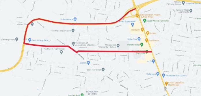 Fort Campbell Boulevard Detour Route