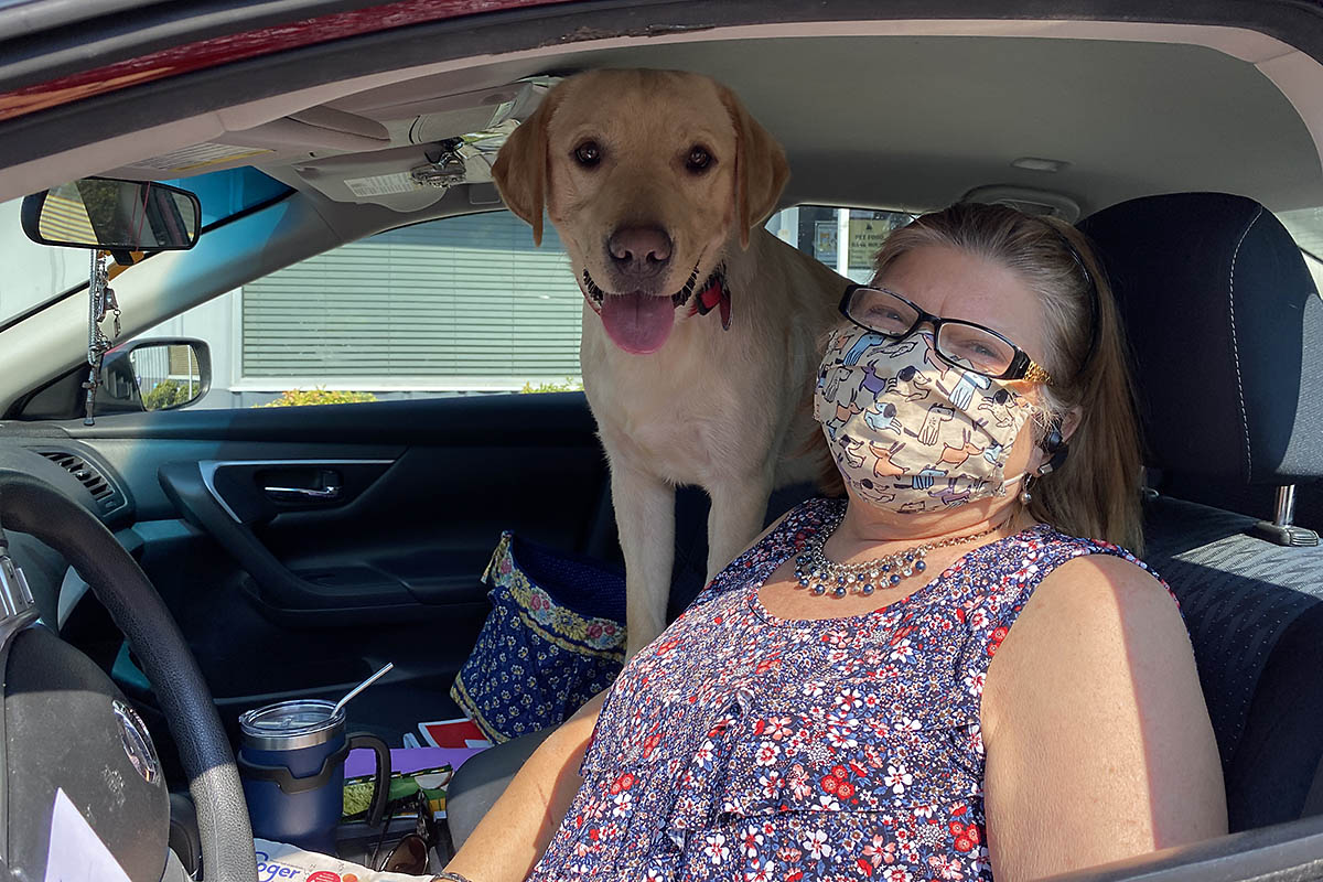 Rock and his mama recently took advantage of a drive-thru wellness clinic day at the Humane Society of Clarksville-Montgomery County. (Amy Shaver)