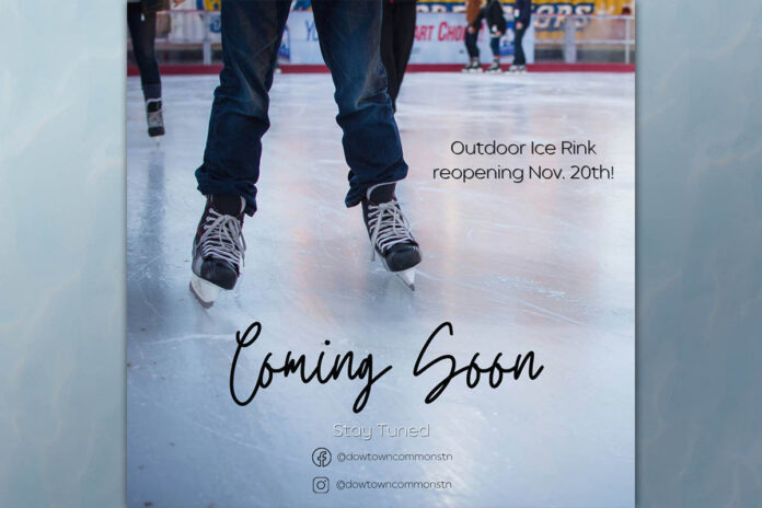 The Downtown Commons outdoor ice rink will bring fun times to Downtown Clarksville for another year.