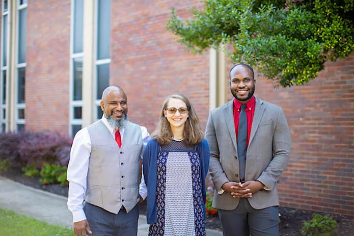 Alistair Gibbs-Francis, Alayna Edwards and Emmanuel Mejeun. (APSU)