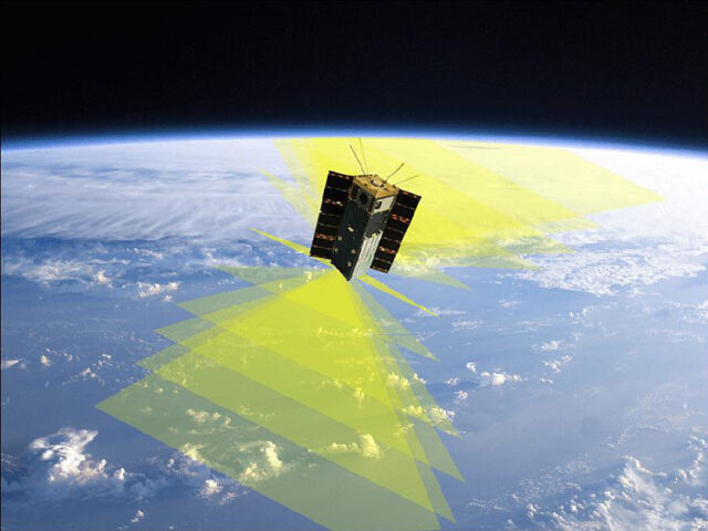 A SmallSat like this one, working with a swarm of similar spacecraft with more narrow-angle, high-resolution polarimeters, could potentially revolutionize understanding of weather formation and processes. (NASA/SDL/Jose Vanderlei Martins)
