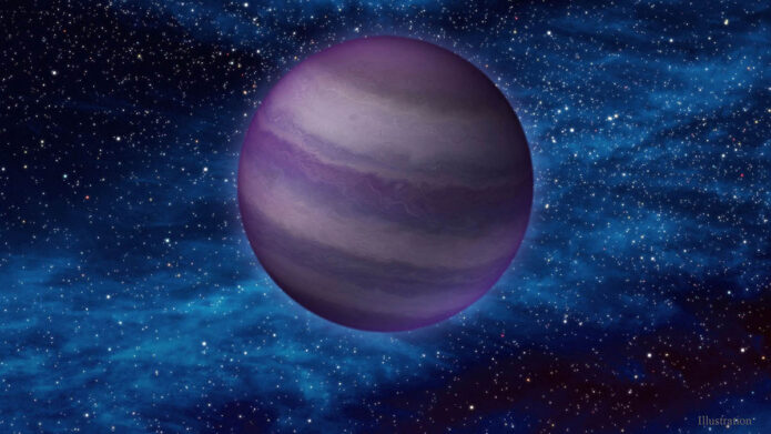 This artist's illustration shows a dim, cold brown dwarf in space. Brown dwarfs form like stars, but do not have enough mass to ignite nuclear fusion in their cores – the process that causes stars to burn. As a result they share some physical characteristics with massive planets, like Jupiter. (IPAC/Caltech)