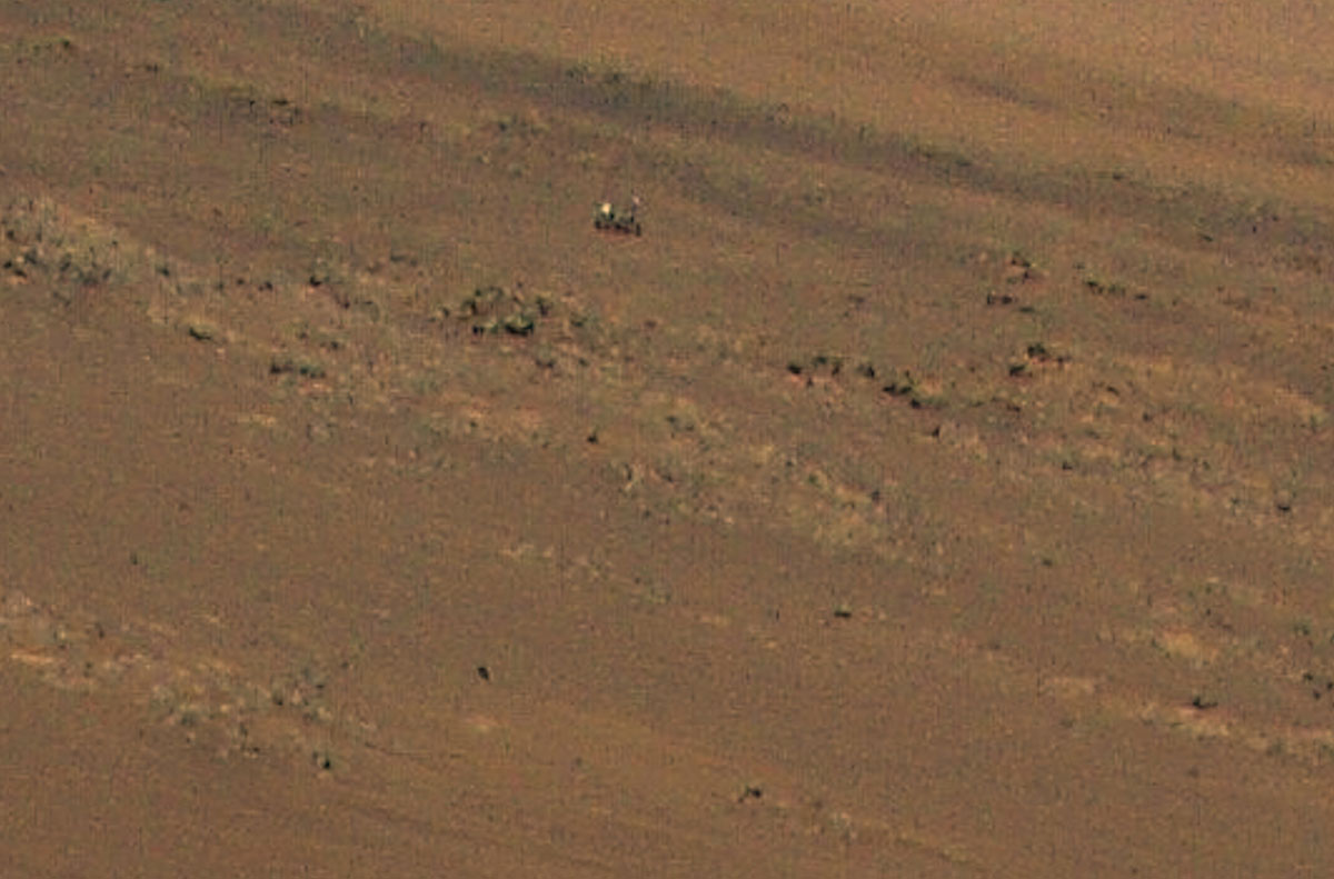 """This image of an area the Mars Perseverance rover team calls """"Faillefeu"""" was captured by NASA's Ingenuity Mars Helicopter during its 13th flight at Mars on Sept. 4, 2021. (NASA/JPL-Caltech)"""
