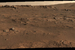 Perseverance Mars rover used its Mastcam-Z camera system to create this enhanced-color panorama, which scientists used to look for rock-sampling sites. The panorama is stitched together from 70 individual images taken on July 28, 2021, the 155th Martian day, or sol, of the mission. (NASA/JPL-Caltech/ASU/MSSS)