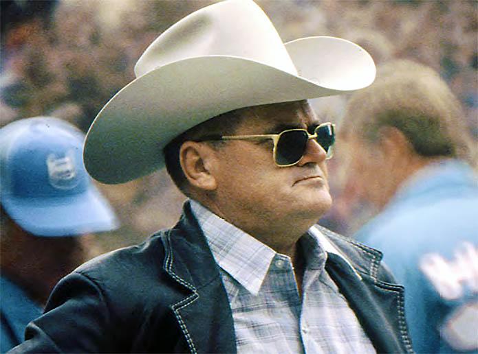 Oilers head coach O.A. 'Bum' Phillips. (Tennessee Titans)