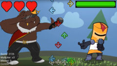 Screen capture from the teaser trailer for the game Rhythm Knights. (APSU)