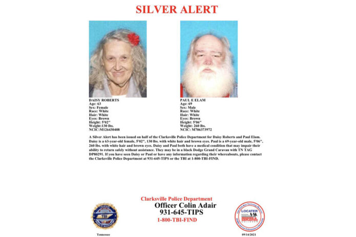 Silver Alert - Daisy Roberts and Paul Elam