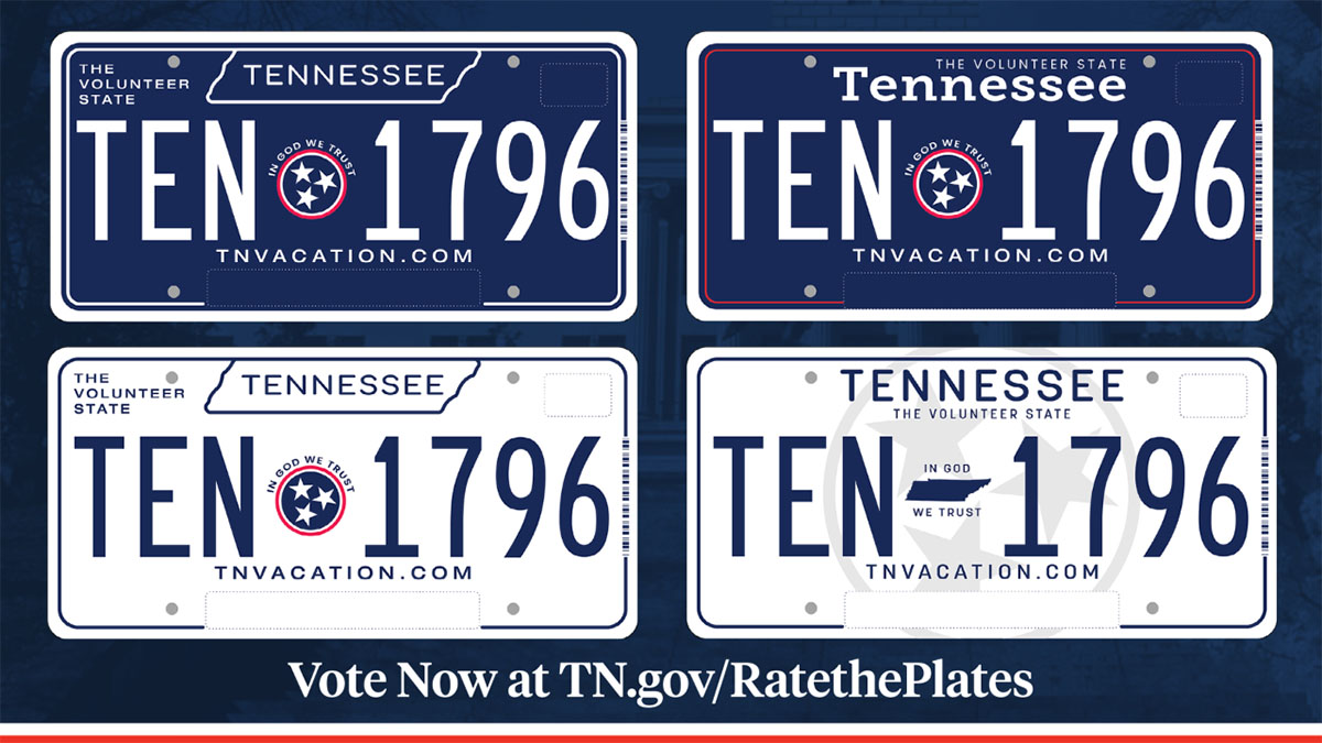 """Tennesseans invited to """"Rate the Plates. Voting open now through September 27th."""