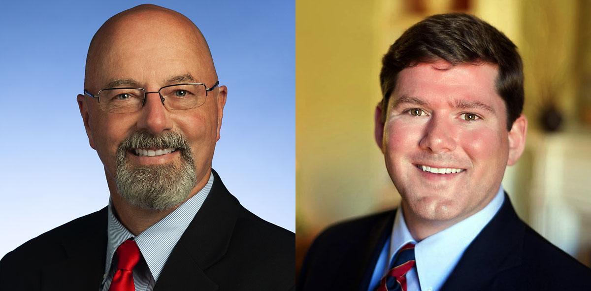 (L to R) Tennessee Senator Mike Bell and Tennessee Representative Bob Freeman.