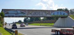 Finished bridge to Clarksville