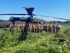 """Officers of 1st Battalion, 187th Infantry Regiment, """"Leader"""",3rd Brigade Combat Team """"Rakkasans"""" , 101st Airborne Division """"Air Assault"""" after completing the raid during a two-day training exercise known as the Leader Battalion Platoon Leader Academy for 29 lieutenants here on August 25th and 26th. (Sgt. 1st Class Jacob Connor, 101st Airborne Division)"""
