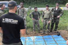 Lieutenants conduct Ready and Resilient Training during a two-day training exercise known as the Leader Battalion Platoon Leader Academy for 29 lieutenants here on August 25th and 26th. (left to right; 1LT Kendall Howerton, 1LT Anabell Sanchez, 1LT Ben Maude, and 1LT Hank Isom). (Sgt. 1st Class Jacob Connor, 101st Airborne Division)