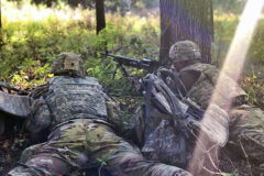 """1st Battalion, 187th Infantry Regiment, """"Leader"""",3rd Brigade Combat Team """"Rakkasans"""" , 101st Airborne Division """"Air Assault"""" lieutenants conduct raid on enemy storage depot during a two-day training exercise known as the Leader Battalion Platoon Leader Academy for 29 lieutenants here on August 25th and 26th. (Sgt. 1st Class Jacob Connor, 101st Airborne Division)"""