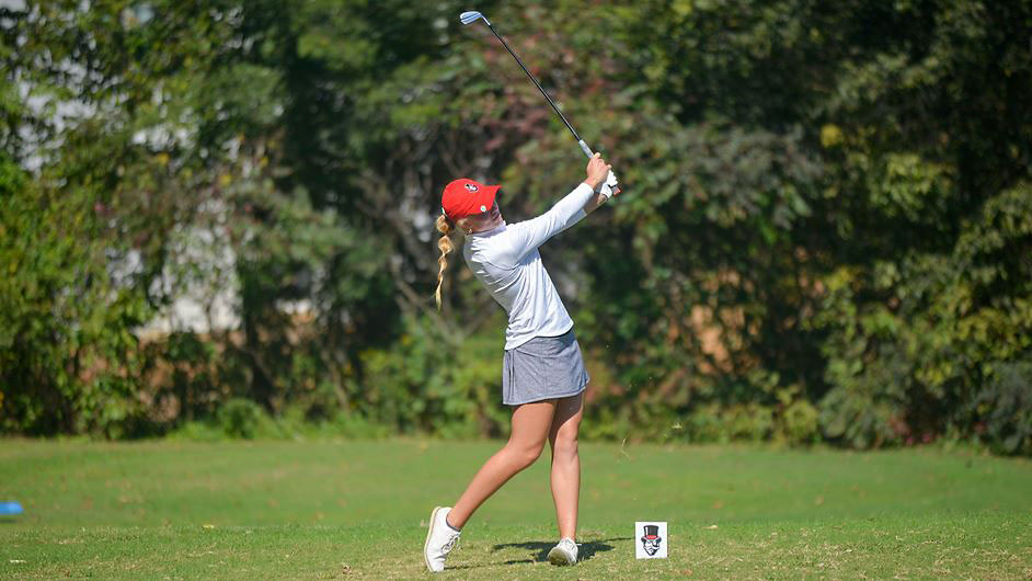 Austin Peay State University Women's Golf freshman Erica Scutt is in Fifth place at Lady Red Wolves Classic after Day 1. (APSU Sports Information)