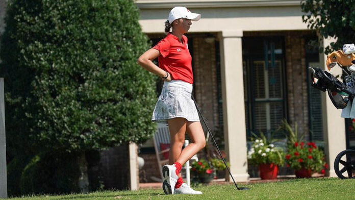 Austin Peay State University Women's Golf freshman Erica Scutt shoots a two round 141 to lead individuals at Butler Fall Invitational (APSU Sports Information)
