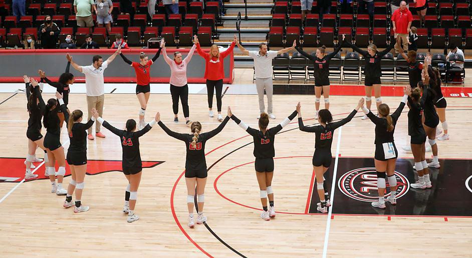 Austin Peay State University Women's Volleyball picks up Sixth Straight Win at Bellarmine. (APSU Sports Information)