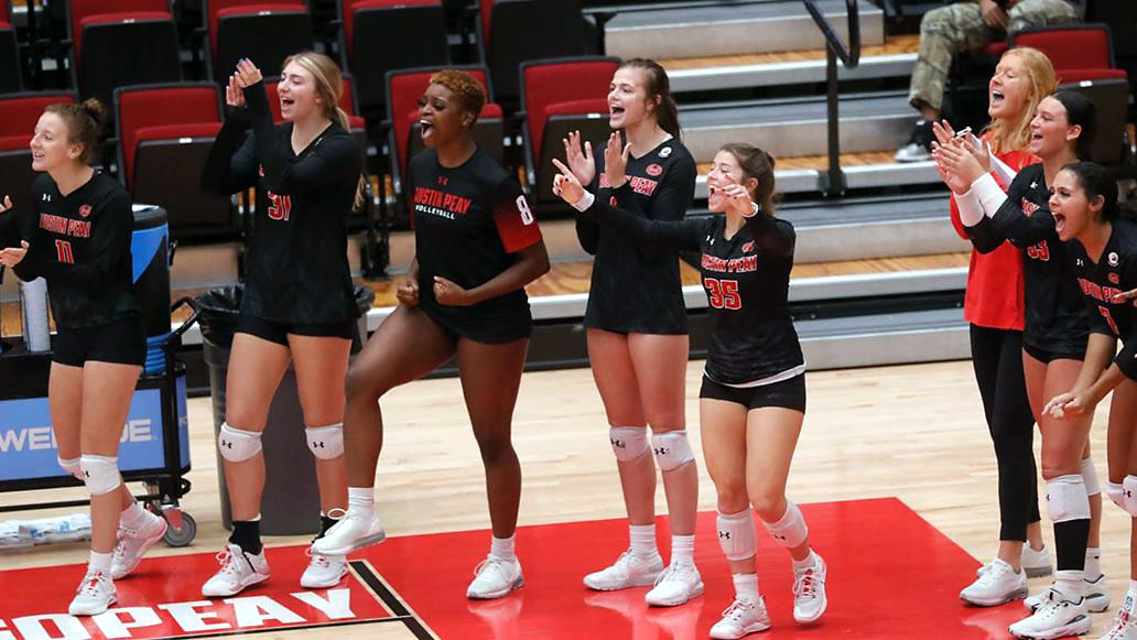 Austin Peay State University Women's Volleyball prepared for weekend series at Tennessee Tech. (Robert Smith, APSU Sports Information)